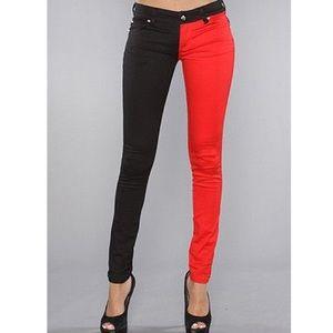 Pants - Harley Quinn Black and red split Tripp pants
